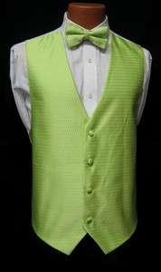 New Mens Jean Yves Mint Fullback Vest & Bow Tie Tuxedo Wedding Prom