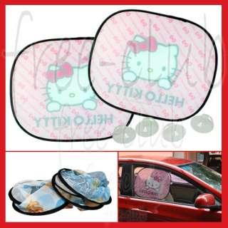 Pink Hello Kitty Foldable Car Window Sun Shade Shield