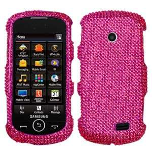 Hot Pink Crystal Bling Hard Case Cover Samsung Solstice II SGH A817