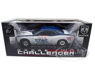 Brand new 118 scale diecast car model of Dodge Challenger Super Stock