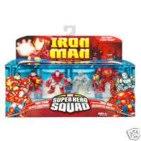 IRON MAN ARMOR HALL SQUAD 3 FIGUR HASBRO IRONMAN FILM