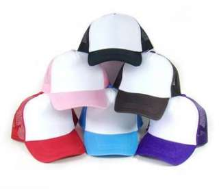 Colors Half Mesh Nylon Baseball Hat/Cap Trucker Hat/Caps Casual Hat