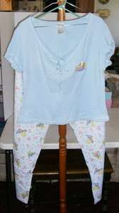 Looney Tunes Tweety Bird Pajamas, Cotton/Polyester, Size L, Blue