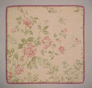 DECORATOR ACCENT THROW PILLOW COVER   Pink Roses