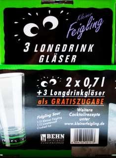 Kleiner Feigling Likör 20% 2 x 0,7l + 3 Gläser gratis 4004752201513