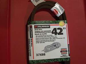 lawn tractor mower deck blade drive belt original murray 37x88 42 inch