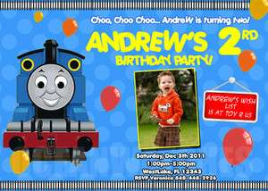 Thomas the train tank Birthday Party Invitations Cards & favors *New