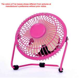 Pink Electric Portable Office desk USB Mini Fan Cooler