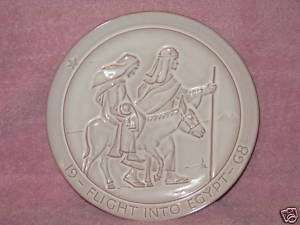 Frankoma Christmas Plate  Flight Into Egypt  1968  Mint