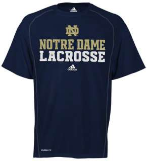 Notre Dame Fighting Irish Navy adidas Official Lacrosse Practice T