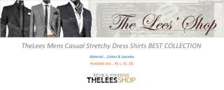 NWT Mens Casual Stretchy Fitted Best Dress Shirts Collection M L XL
