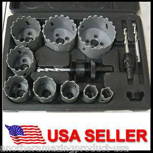 Tungsten Carbide Hole Saw Kit 13 Pce Concrete Tile MDF