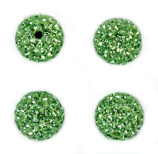 12mm Round Ball Pave Crystal Rhinestone Loose Spacer Beads Jewelry DIY