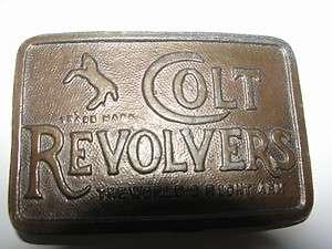 OLD BRASS,COLT REVOLVERS GUN MFG.CO.ADVERTISING,PISTOLS,HANDGUNS BELT