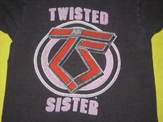 1983 TWISTED SISTER VTG TOUR T SHIRT CONCERT ORIGINAL