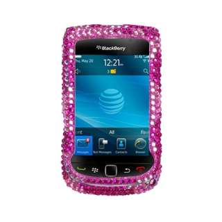 Candy Flowers Diamante Bling Case Phone Cover for Blackberry Torch