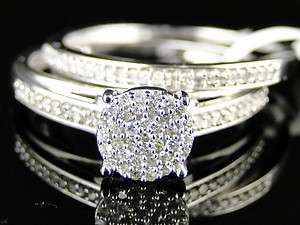 10K WHITE GOLD LADIES WOMENS ROUND CUT DIAMOND WEDDING ENGAGEMENT