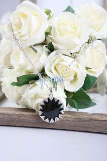 Fashion Korean Style Black Gear Round CZs Fashion Necklace
