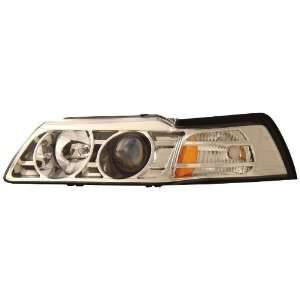 Anzo USA 121043 Ford Mustang Projector Chrome Headlight Assembly