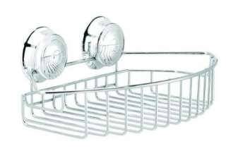 BATHROOM SHOWER STAINLESS STEEL TWIST N LOCK SUCTION RACK SHELF
