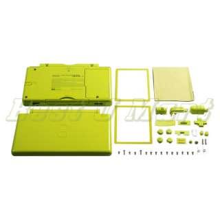 Green FULL SHELL CASE FOR NINTENDO DS Lite DSL NDSL Housing Case Shell