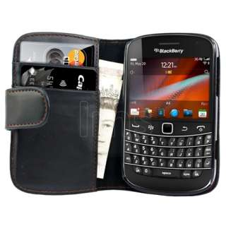 Magic Store   AIO Black Wallet Leather Case For Blackberry Bold 9900