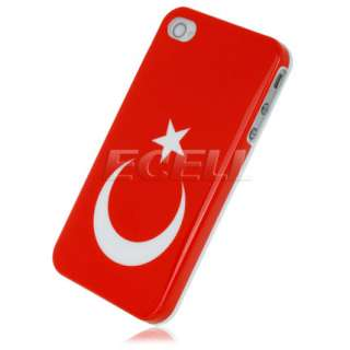 TURKEY TURKISH RED FLAG BACK CASE COVER FOR iPHONE 4 4G