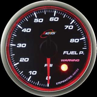 52mm RACE TECH RED/WHITE Angel Ring OIL PRESSURE GAUGE
