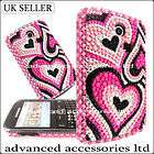 HOT PINK HEART DIAMOND HARD CASE CRYSTAL DIAMANTE COVER FOR SAMSUNG