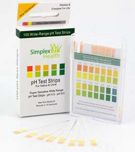 pH Dual Test Strips Stix Urine & Saliva 3 Pack