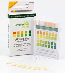 pH Dual Test Strips Stix Urine & Saliva 3 Pack |