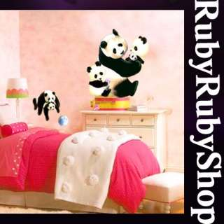 ECO 004 PANDA WALL ART KIDS ROOM DECO MURAL STICKER ★★★