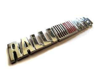 RALLIART Full Metal Premium Chrome Badge Emblem Mitsubishi Lancer ASX