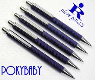 PIRRE PAULS 204 BALL POINT PEN stainless steel BLUE