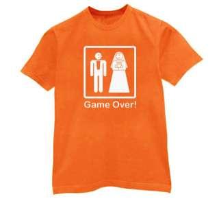 Game Over T Shirt funny wedding bride groom gift
