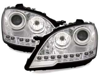 FARI ANTERIORI LED DAYLINE MERCEDES W164 CLASSE ML NERI 08 11