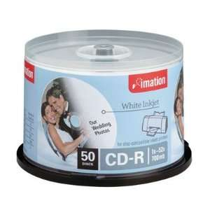 Imation Cd R 80 Minute 700 Mb 52x Inkjet & Hub Printable