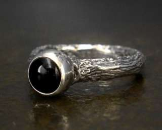 Sticks and Stones Onyx Ring   Sterling Silver: Rings: WorldofGood