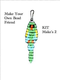 KIT Beaded Key Chain or Zipper Pull Animal Parrot Bead