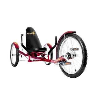 Mobo Triton Pro The Ultimate Mobo Three Wheeled Cruiser   Red   ASA