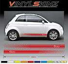 FIAT Abarth Premium Side Stripes Decals Stickers 500 500c Punto Uno