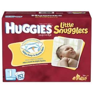 Huggies Little Movers Diapers, Size 1 2, 152 Count Health