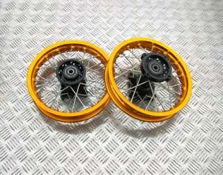 GOLD SDG PIT DIRT BIKE WHEEL SET 10 FRONT 10 INCH REAR 110cc 125cc