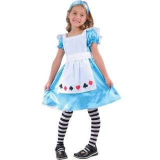 Costume Bambina Alice Abito Festa Party Vestito Carnevale Halloween