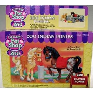 LITTLEST PET SHOP ZOO INDIAN PONIES: Toys & Games