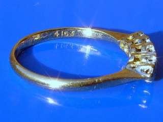 ANTIQUE ART DECO PLATINUM 5 DIAMOND LIFETIME 18CT RING