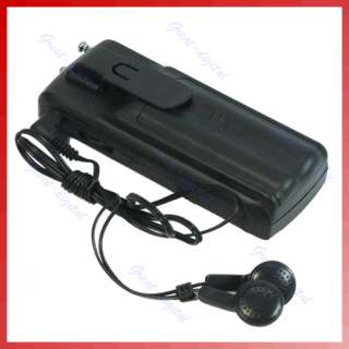 Mini Belt Clip Auto Scan FM Radio Receiver With Flashlight + Earphone