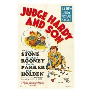 Judge Hardy and Son, Mickey Rooney, 1939 Stretched Canvas Poster Print