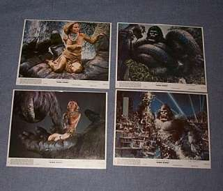 ORIGINAL 8 1976 KING KONG Lobby Card Set Jessica Lange