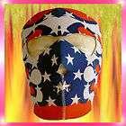 USA Stars Stripes Red White Reversible Neoprene Full Face Mask Ski